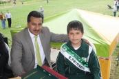 Señor Rector José Coral Asaín y Vocero Estudiantil-Primaria